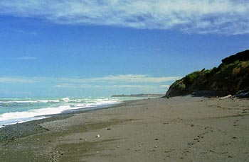Strand söder om Timaru