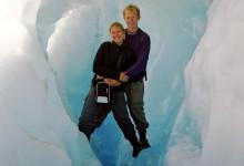 Anki & Lasse uppe på Fox Glaciär