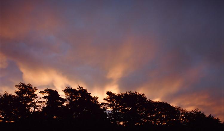 Vacker solnedgång, Tongariro