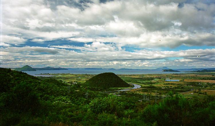 Vacker vy över Nya Zeelands landskap