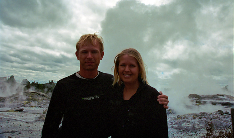 Lasse & Anki i Whakarewarewa