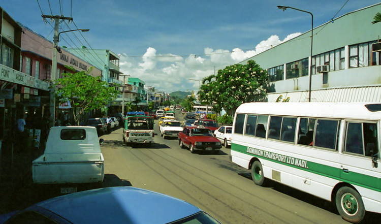 Center of town Nadi, Fiji