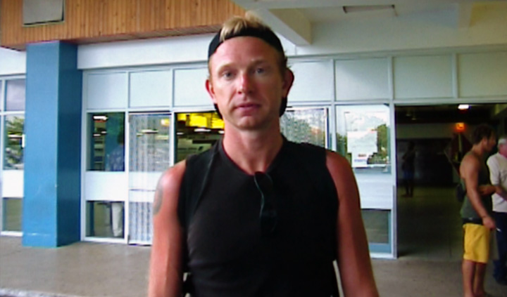 Lasse på Nadi International Airport , Fiji