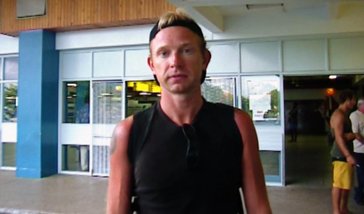 Lasse på Nadi International Airport , Fiji