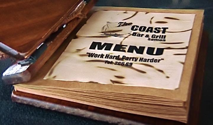 Meny på The Coast Bar & Grill, Apia Samoa