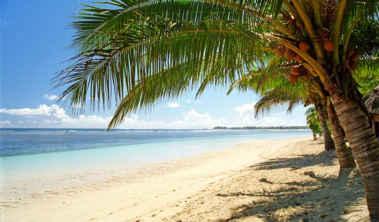 Manase strand, norra Savai'i ön, Samoa