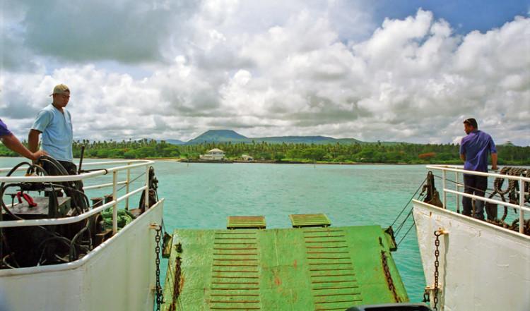 Färja från Salelologa till Mulifanua, Samoa