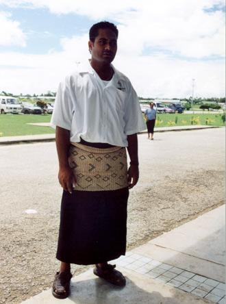 Typiskt utseende för en man på Tonga