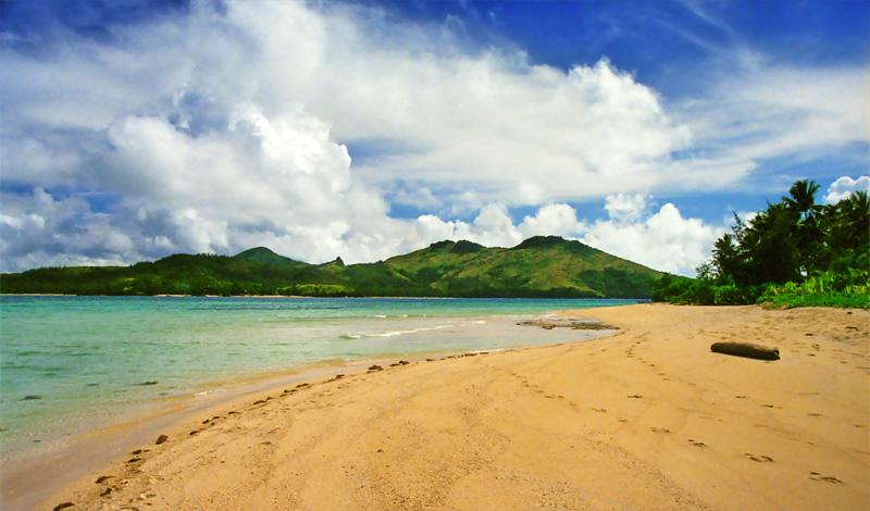 Stranden på Turle Island, Yasawa Fiji