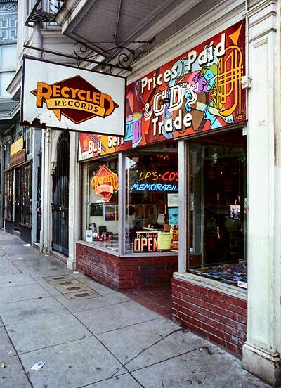Recycled Records at Haight Ashbury in San Francisco
