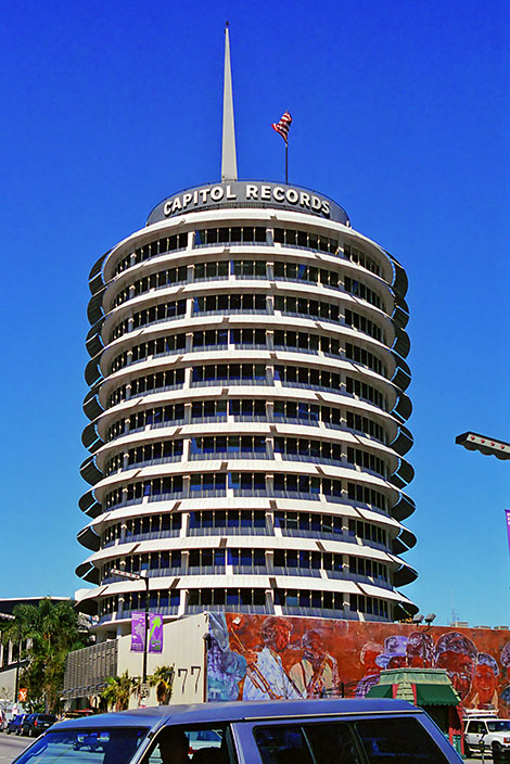 Capitol Records, Hollywood and Vine