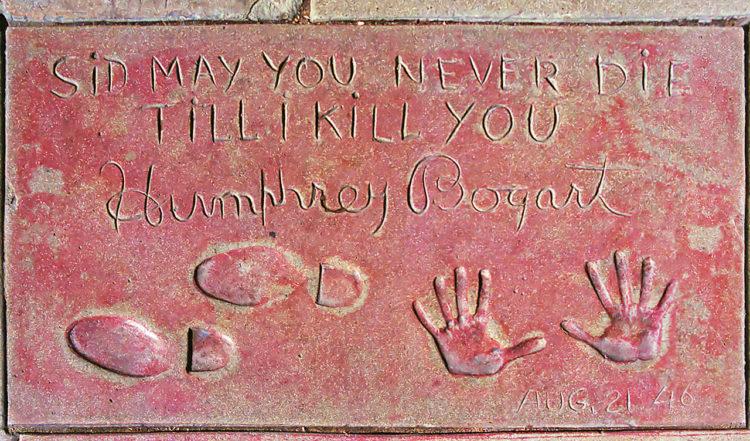 Humphrey Bogarts handavtryck, Grauman's Chinese Theatre West Hollywood
