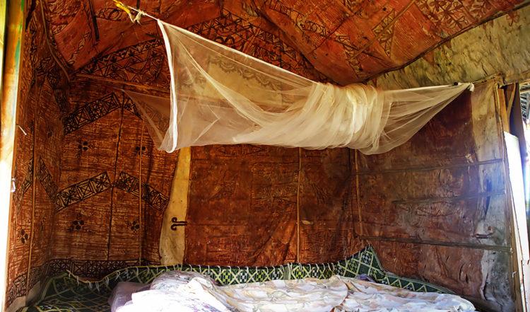 Interiör i vår Fale på Taianas Beach Resort, Uoleva Tonga