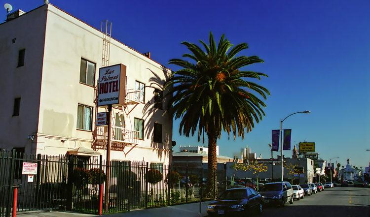 Las Palmas Hotel i Hollywood, där Richard Gere hämtar Julia Roberts i slutscenen till Pretty Woman