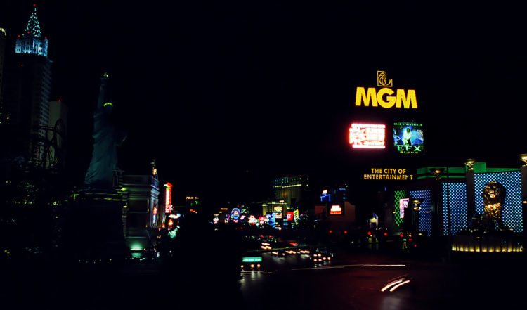 Natt utmed Las Vegas Strip, 2002