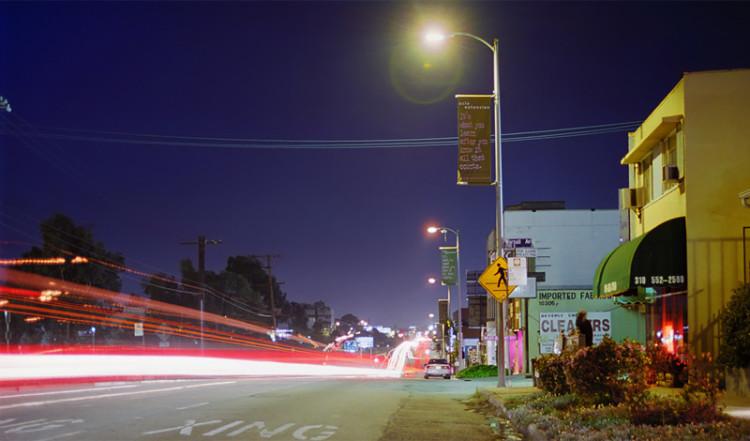 Santa Monica Boulevard vid Stars Inn Motel, Los Angeles