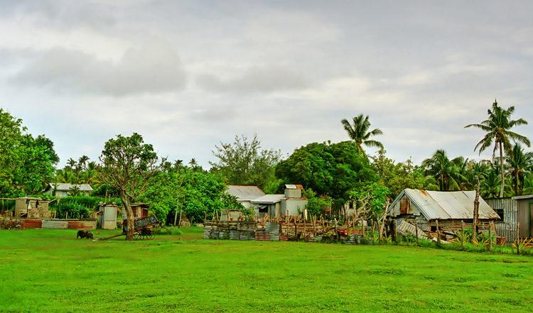 Uiha by, Ha'apai gruppen, Tonga