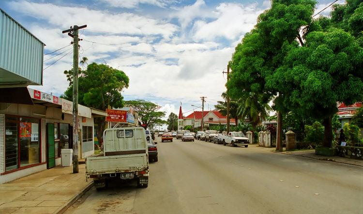 Vuna Road, centrum gata i Nukuʻalofa på Tonga