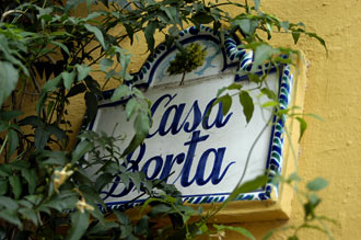 Gatuskylt i gamla stan, Marbella