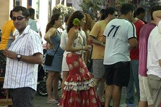 Gatufest på gågatan i Estepona