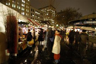Marknad på Union Square