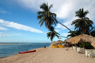 Stranden vid Boipebas strandserveringar