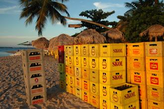 Ölbackar på strand