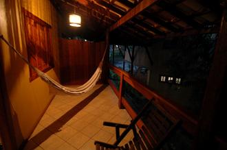 Vår balkong på Pousada da Paz