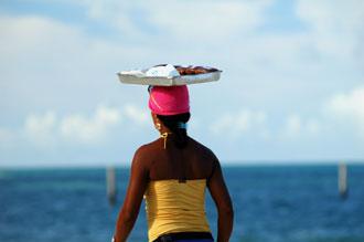 Säljare på stranden