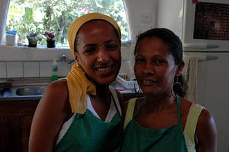 De två trevliga tjejerna som jobbar på Vista de Mar