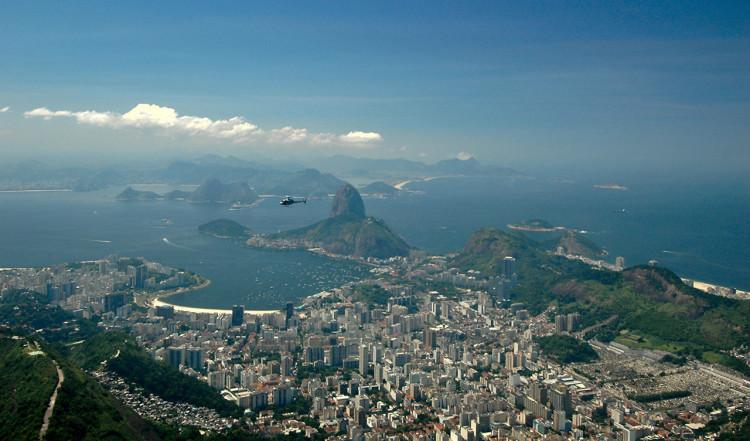 Rio de Janeiro från toppen av Corcovado