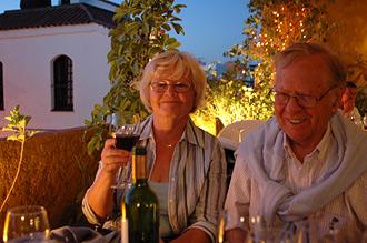 Mamma och pappa på restaurang La Posá Dos, Estepona