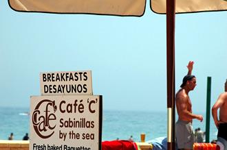 Café 'C', Sabinillas by the sea