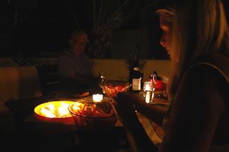 Middag i trädgården
