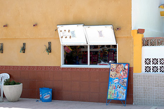En kiosk i Sabinillas