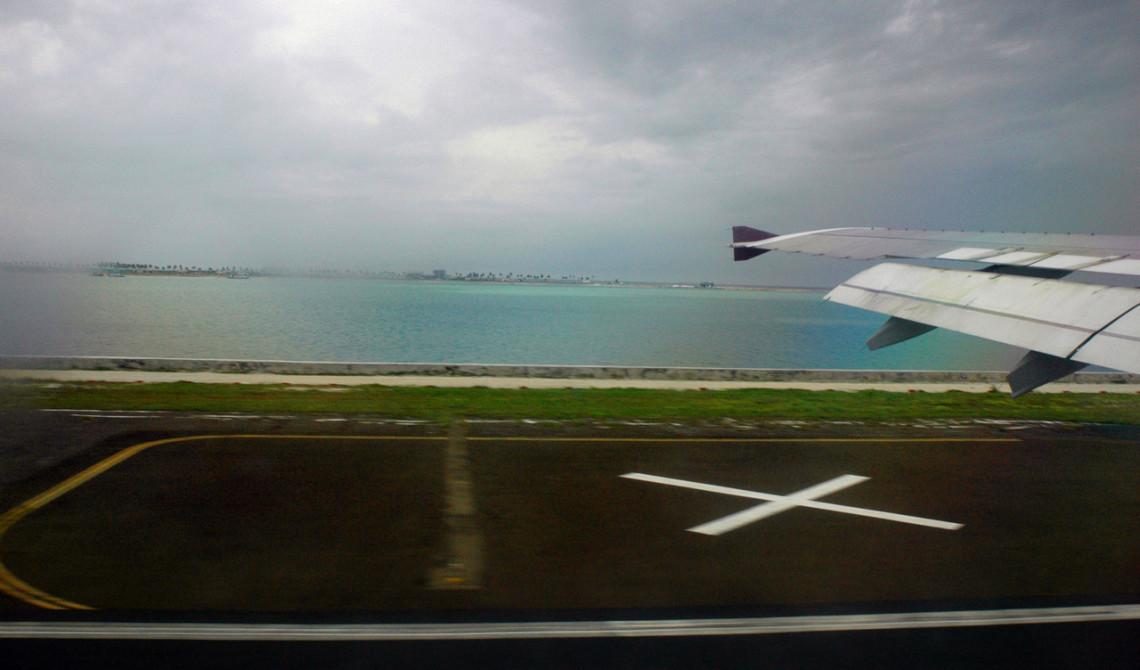 Landning på Malé, Maldiverna