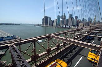Promenad över Brooklyn Bridge
