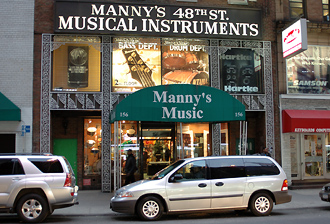 Manny's 48th Street Musical Instruments, New York