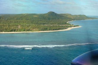 Vi landar på Aitutaki