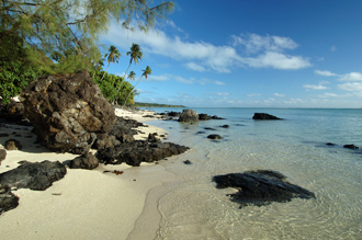 Strandvy strax nedanför Pacific Resort