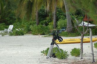 Kamera på stranden