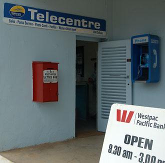 Postkontor med brevlåda på Aitutaki