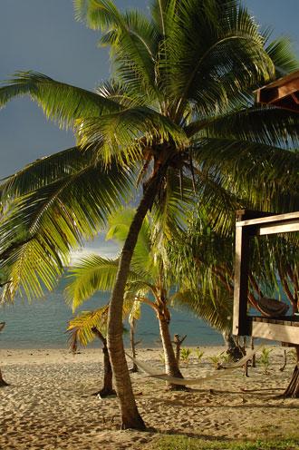 Strand utanför vårt boende