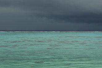 Regnig morgon på Aitutaki