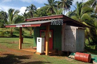 Bensinmack - Atiu, Cook öarna