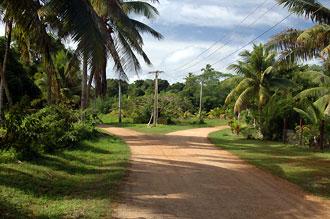 vägskäl - Atiu, Cook öarna