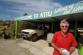 Roger - ägare av Atiu Villas, Atiu, Cook öarna