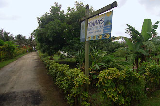 Infart till Tianas beach villas, Rarotonga - Cook öarna