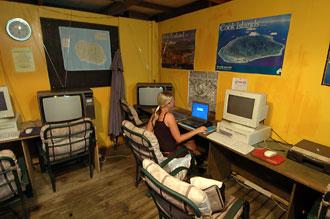 Internetcafe, Rarotonga - Cook öarna