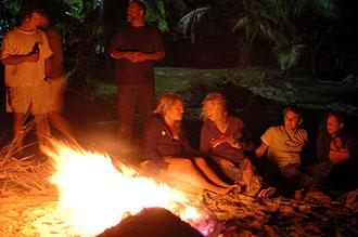 bonfire på stranden